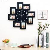 時鐘相框 鐘錶掛鐘客廳創意個性田園藝術時鐘掛錶相框美式簡約現代靜音 YJT 【創時代3c館】