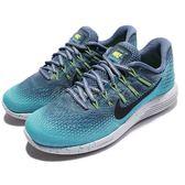 【五折特賣】Nike 慢跑鞋 Wmns Lunarglide 8 Shield 藍 黑 潑墨 防水處理 避震透氣 女鞋【PUMP306】 849569-400