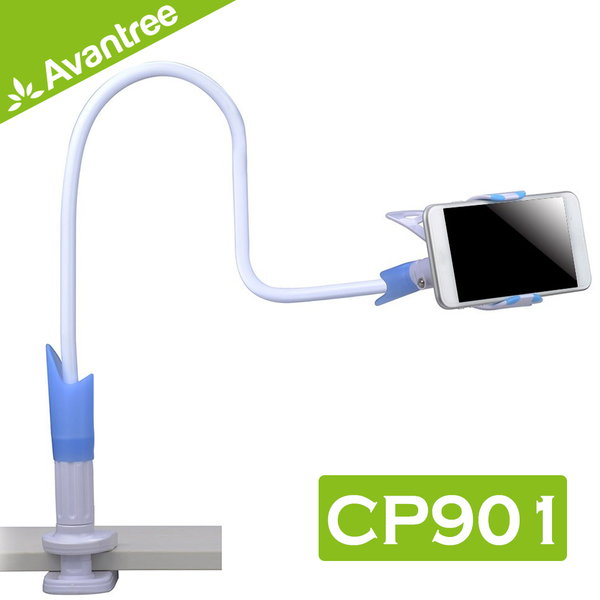 Avantree CP901 超強不垂頭360度旋轉夾式懶人夾手機支架-適用3.5-6.3吋手機 防滑穩固不垂落/追劇必備