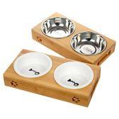 貓盆狗碗陶瓷貓糧碗貓飯盆水碗貓碗架餐桌貓咪用品   創想數位
