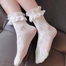 2雙裝 洛麗塔襪子蕾絲花邊中筒襪lo娘百搭Lolita長襪【慢客生活】