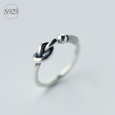 戒指 925純銀-精緻繩結生日情人節禮物女開口戒73dt600【時尚巴黎】