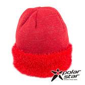 PolarStar 束口金蔥反摺保暖帽 台灣製造 『紅』P15626