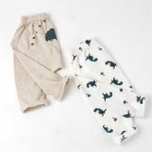 舒適棉感彈性七分褲 恐龍2件組 褲子 童裝 童褲