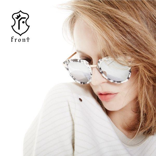 【Front 太陽眼鏡】Monster-三色可挑選#時尚簡約大框太陽眼鏡/墨鏡