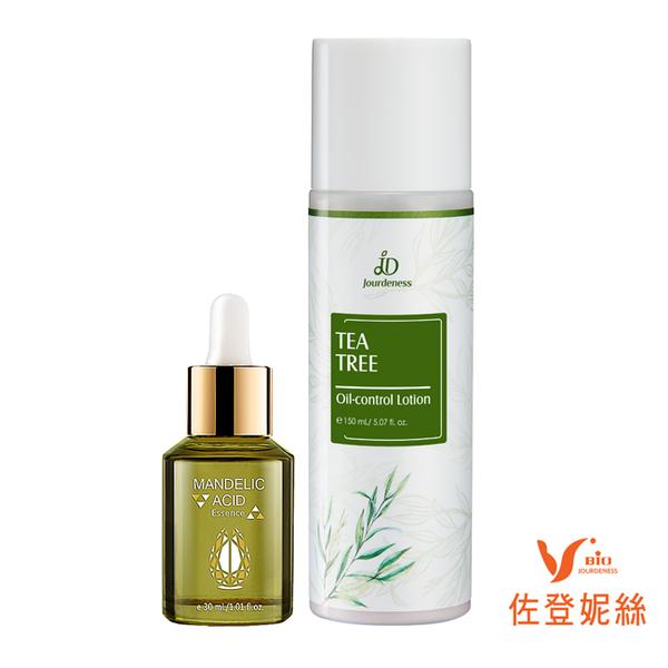 佐登妮絲 茶樹控油化妝水150mL+苦杏仁酸溫和煥顏露30ml 控油緊緻保濕化妝水問題肌膚適