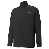 PUMA 男款黑色慢跑系列 FAV立領風衣外套 52021201