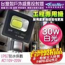 監視器 紅外線感應器 30W 全電壓 防水防塵 IP67 工程級 台灣製 投射燈 LED 照明燈 感應燈
