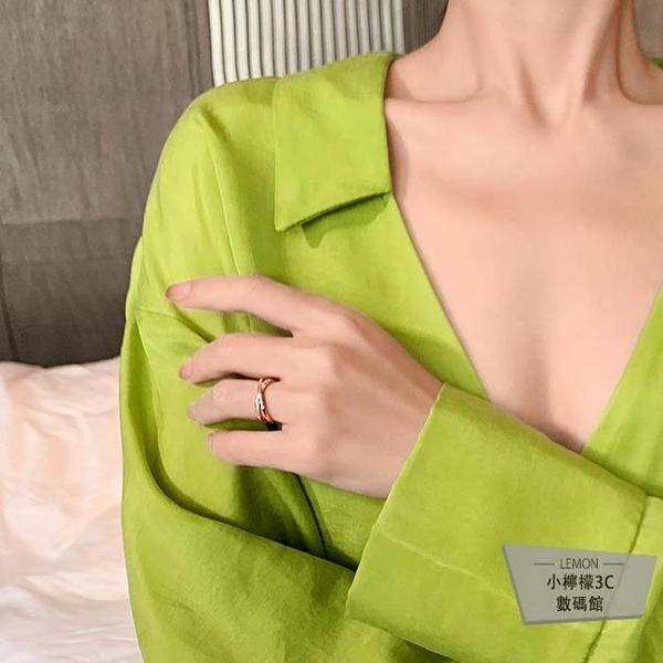 簡約戒指女時尚個性指環開口可調節【小檸檬3C】