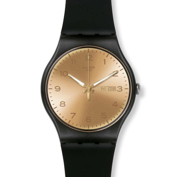 Swatch  閃耀金黃石英腕錶   SUOB716