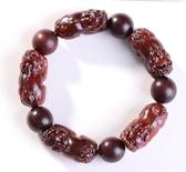 紫檀手串貔貅手鏈精細雕刻男女血檀佛珠