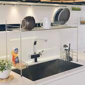 廚房收納 碗盤架 瀝水架【D0085】不鏽鋼跨海大橋伸縮瀝水槽架  MIT台灣製ac 收納專科