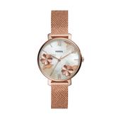 FOSSIL燦花珍珠貝米蘭帶腕錶ES4534