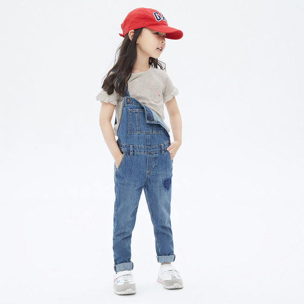 Gap女幼童 布萊納系列 甜美荷葉邊短袖T恤 683403-灰色