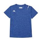 KAPPA義大利舒適小童吸溼排汗男款圓領T恤 義大利藍麻花 34168KWX7F