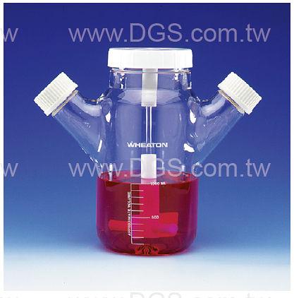 《WHEATON》懸浮式 組織培養瓶 Celstir 雙側口 Double Sidearm Celstir Cell Culture Flask