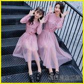 親子裝母女裝秋裝連衣裙兩件套