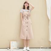 CANTWO簡約肩帶風衣式洋裝-共兩色
