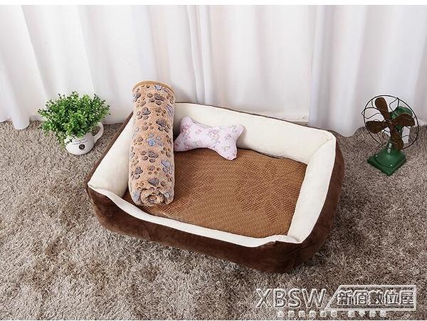 網紅狗窩四季通用貓窩寵物墊子泰迪小型大型犬冬天保暖狗狗用品床『新佰數位屋』