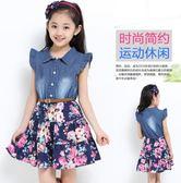 童裝女童夏裝連衣裙韓版女童牛仔裙兒童裙夏款 LQ6046『夢幻家居』