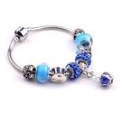 潘朵拉風格 神秘皇冠藍鑽串珠 手鍊 預購