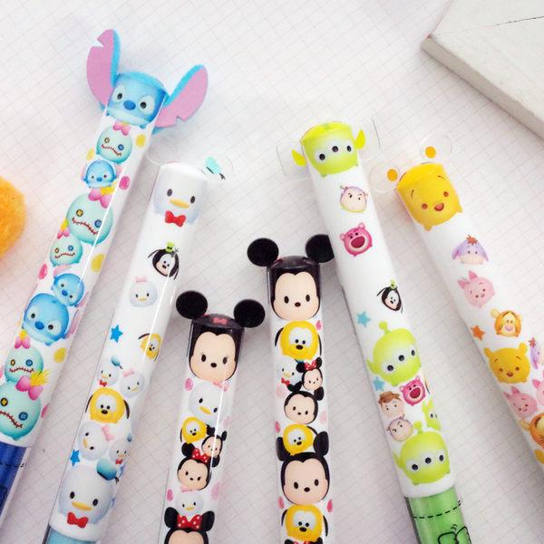 PGS7 日本迪士尼系列商品- 迪士尼 TSUM TSUM 雙色 原子筆 造型筆 米奇 米妮 史迪奇【SHJ6420】