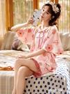 睡衣睡衣女夏季短袖純棉兩件套裝大碼2021年新款網紅爆款薄春天家居服 朵拉朵