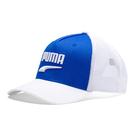 Puma 藍白色 運動帽 老帽 遮陽帽 透氣 排汗 運動 六分割帽 棒球帽 卡車帽 02255702