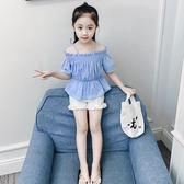 女童夏裝套裝洋氣2018新款時尚韓版兒童短袖兩件套女孩童裝時髦潮 易貨居