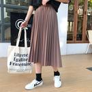 (免運)DE shop - 高腰復古百摺裙 - D-2997