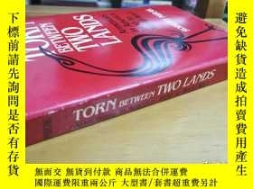 二手書博民逛書店英文原版:Torn罕見between two lands 「Americans in America 1890 t