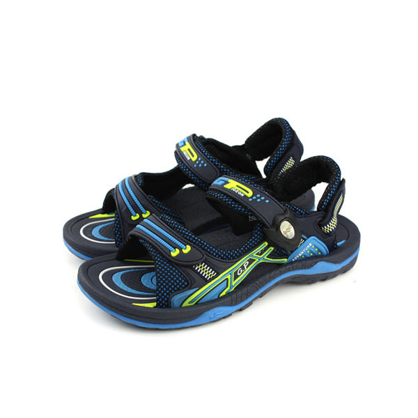 GP(Gold.Pigon) 涼鞋 防水 雨天 藍/黑 大童 童鞋 G8683B-22 no930
