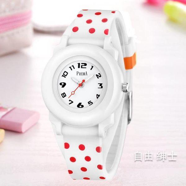 兒童手錶女孩正韓時尚中小學生女童可愛小巧防水少女款手錶石英錶【1件免運】