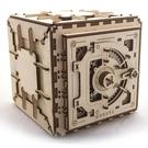 【海思】UGEARS 木製自走模型 - 保險箱 (Safe) - 來自烏克蘭.橡皮筋動力.機械驚奇 ! 科學玩具