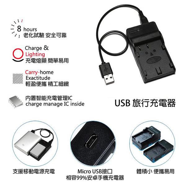攝彩@超值USB充 隨身充電器 for SONY NP-QM91D 行動電源 戶外充 體積小 一年保固