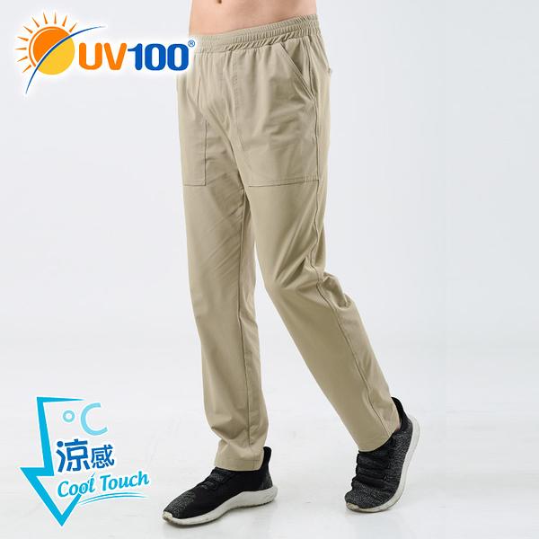 UV100 防曬 抗UV-涼感彈力舒適直筒褲-男