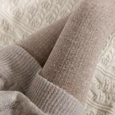 現貨 日系復古針織麻花打底褲女薄款外穿豎條紋燕麥白連褲襪咖色踩腳襪 【雙十二狂歡】
