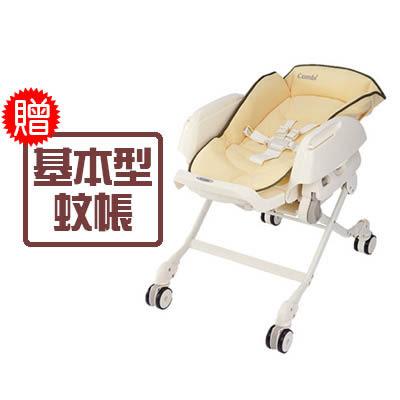 Combi 康貝 Letto 手動餐椅搖床-ST款(銀杏黃)【送基本型蚊帳x1】【佳兒園婦幼館】