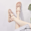 涼鞋女時裝平底學生百搭羅馬涼鞋夏季【時尚大衣櫥】