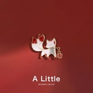 A Little小狐貍胸針可愛日系卡通學生徽章領口別針男女包包裝飾品 夢幻小鎮