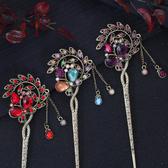髮簪 盤髮飾品韓國女古典古風古裝古代宮廷漢服簡約頭飾髮飾?髮簪簪子