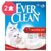 【Ever Clean】藍鑽歐規結塊貓砂-9kgX2盒-強效除臭