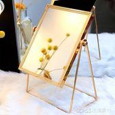 ins化妝鏡子臺式北歐風公主簡約高清學生宿舍方形單面美容梳妝鏡   琉璃美衣