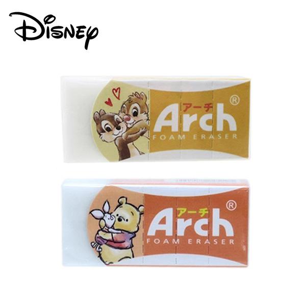 【日本正版】Arch 迪士尼 橡皮擦 日本製 擦布 奇奇蒂蒂 小熊維尼 Disney 099605 925195
