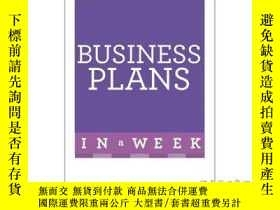 二手書博民逛書店Business罕見Plans in a Week-一周內的商業計劃Y465786 Iain Maitland