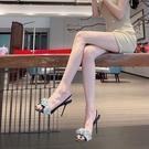 時裝aw大王網紅水鑚高跟鞋一字帶高跟涼鞋2021年新款女夏細跟性感 黛尼時尚精品