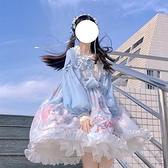 Lolita日常洋裝連身裙公主裙秋冬夢境游樂園OP洛麗塔【小酒窩服飾】