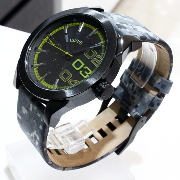 【萬年鐘錶】DIESEL 軍事 迷彩  黑錶面  霧面IP鍍黑錶殼  霧面IP鍍黑殼  大錶徑 46mm DZ1678