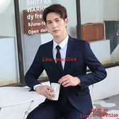 西服套裝男士職業伴郎韓版結婚商務正裝外套小西裝男上班【西語99】