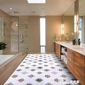 防滑地貼衛生間廚房防水摩洛哥復古自粘地板耐磨瓷磚美式浴室貼紙 Korea時尚記